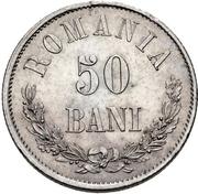 50 Bani - Carol I -  obverse