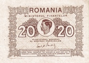 20 Lei - Mihai I (Ministry of Finance) – obverse