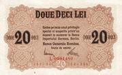 20 Lei (BGR - German Occupation) – obverse