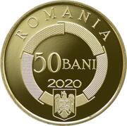 50 Bani (50 years since the establishment of the Organisation internationale de la Francophonie) -  obverse