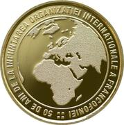 50 Bani (50 years since the establishment of the Organisation internationale de la Francophonie) -  reverse