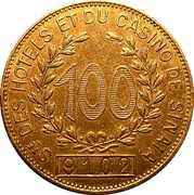 Casino Token - Sinaia Casino (100) – obverse