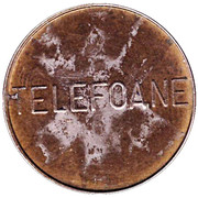 Telephone Token - Telefoane Control (24 mm; big letters) – obverse