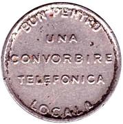 Telephone Token - Romanian Anonymous Society for Telephones – reverse