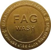 Car Wash Token - FAG – reverse