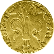 Florin - Pierre IV (Perpignan) – reverse