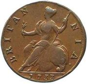 ½ Penny - George II (young bust) – reverse