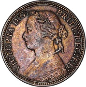 1 Farthing - Victoria (2nd portrait; 2nd type) -  obverse