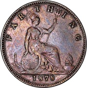 1 Farthing - Victoria (2nd portrait; 2nd type) -  reverse