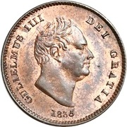 ⅓ Farthing - William IV (Colonial issues) – obverse