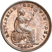 ⅓ Farthing - William IV (Colonial issues) – reverse