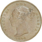 ⅓ Farthing - Victoria (1st portrait; Colonial issue) – obverse