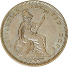 ⅓ Farthing - Victoria (1st portrait; Colonial issue) – reverse