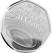 50 Pence - Elizabeth II (Stephen Hawking; Silver Proof) -  reverse