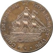 ½ Penny (Gloucestershire - Badminton) – obverse