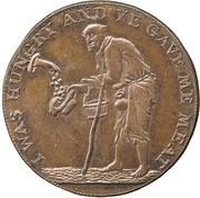 ½ Penny (Gloucestershire - Badminton) – reverse