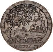 ½ Penny (Warwickshire - Birmingham / Clarke's) – reverse