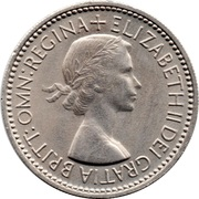 1 Shilling - Elizabeth II (Scottish shield; with 'BRITT:OMN') -  obverse