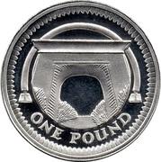 1 Pound - Elizabeth II (Egyptian Arch Bridge; Silver Proof) -  reverse