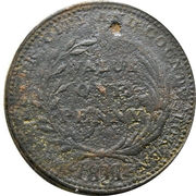 1 Penny (Worcester - City & County) – reverse