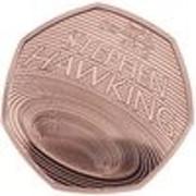 50 Pence - Elizabeth II (Stephen Hawking; Gold Proof) -  reverse