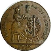 ½ Penny (Devon - Plymouth / Shepheard & Co) – obverse