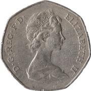 50 Pence - Elizabeth II (Entry into EEC) -  obverse