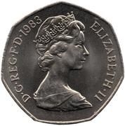 50 Pence - Elizabeth II (2nd portrait) -  obverse