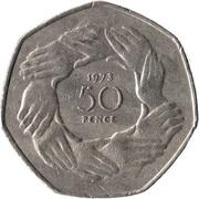 50 Pence - Elizabeth II (Entry into EEC) -  reverse