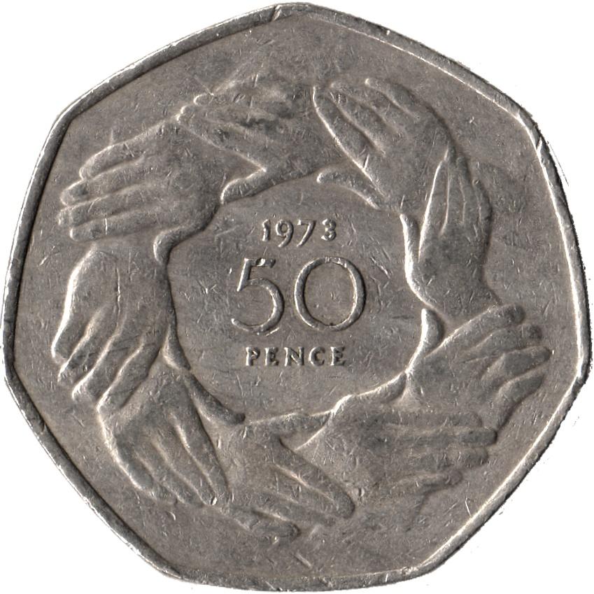 Resultado de imagen de Fifty Pence 1973