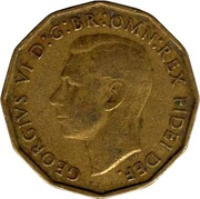 3 Pence - George VI (without 'IND:IMP') -  obverse