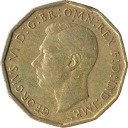 3 Pence - George VI (with 'IND:IMP') -  obverse