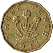 3 Pence - George VI (with 'IND:IMP') -  reverse