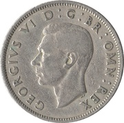 2 Shillings - George VI (without 'IND:IMP') -  obverse