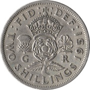 2 Shillings - George VI (without 'IND:IMP') -  reverse