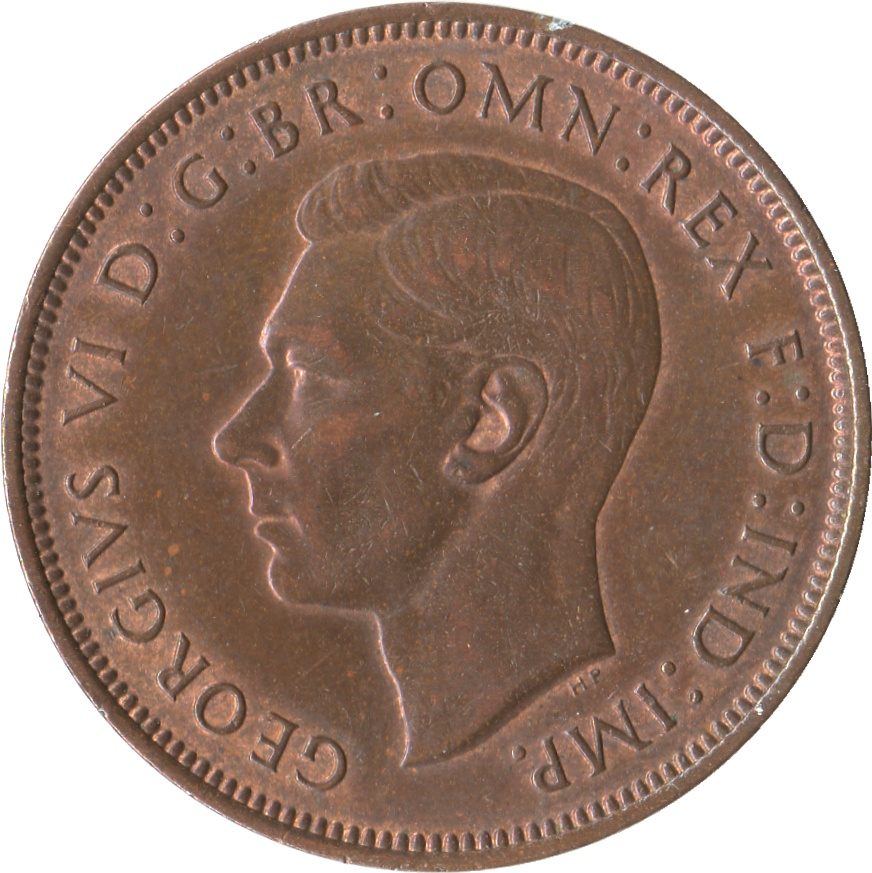 1 penny george vi with ind imp united kingdom for One penny homes