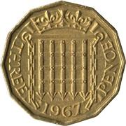3 Pence - Elizabeth II (1st portrait; without 'BRITT:OMN') -  reverse