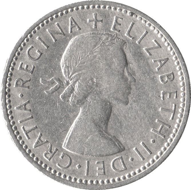1958 2 shilling coin