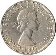 ½ Crown - Elizabeth II (1st portrait; no 'BRITT:OMN') -  obverse