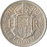 ½ Crown - Elizabeth II (1st portrait; no 'BRITT:OMN') -  reverse