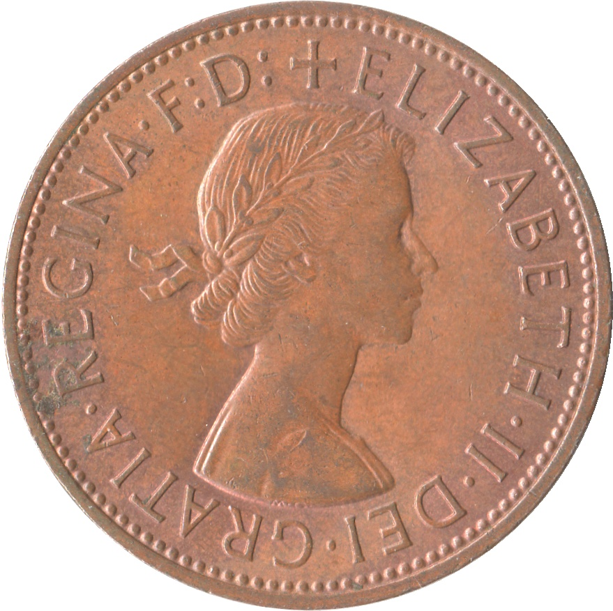 1 penny elizabeth ii 1st portrait without britt omn for One penny homes