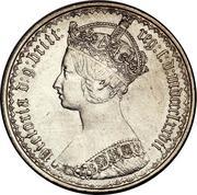 1 Florin - Victoria (1st portrait; 'Gothic' type) -  obverse