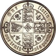 1 Florin - Victoria (1st portrait; 'Gothic' type) -  reverse