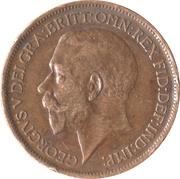 ½ Penny - George V -  obverse