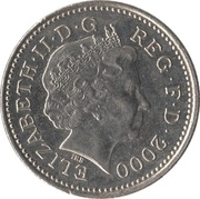 10 Pence - Elizabeth II (4th portrait; Crowned Lion) -  obverse