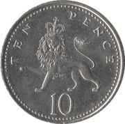 10 Pence - Elizabeth II (4th portrait; Crowned Lion) -  reverse
