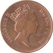2 Pence - Elizabeth II (3rd portrait; magnetic) -  obverse