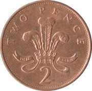 2 Pence - Elizabeth II (3rd portrait; magnetic) -  reverse