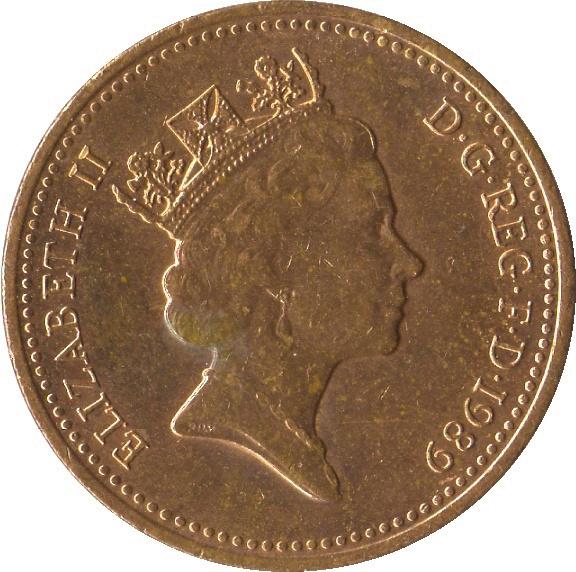 1 Penny - Elizabeth II (3rd portrait