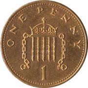 1 Penny - Elizabeth II (3rd portrait; non-magnetic) -  reverse